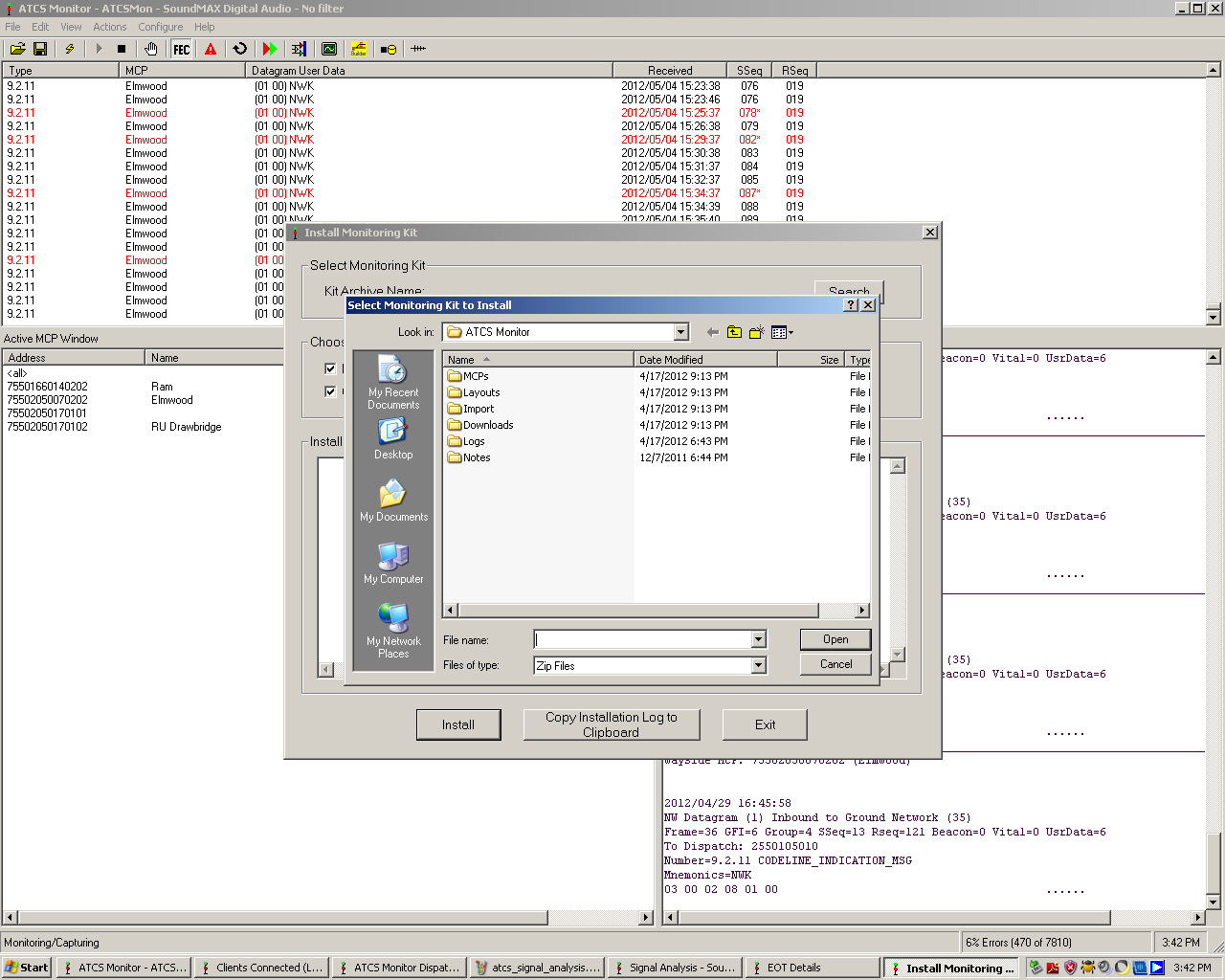 How to set up ATCS monitoring